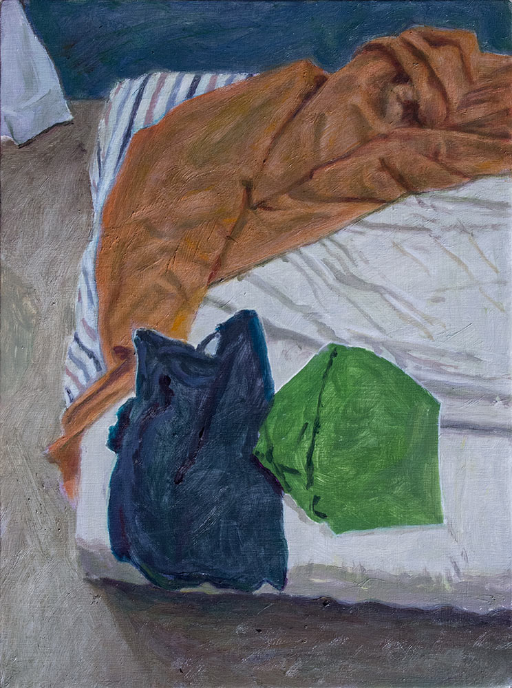 Study of crumpled sheets and 2 t-shirts; 2017; 305 X 226 mm; Private collection