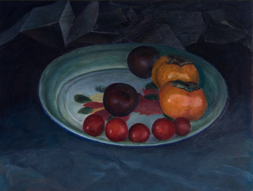Persimmons, plums and tomatoes; 2015-2016; 300 X 400 mm