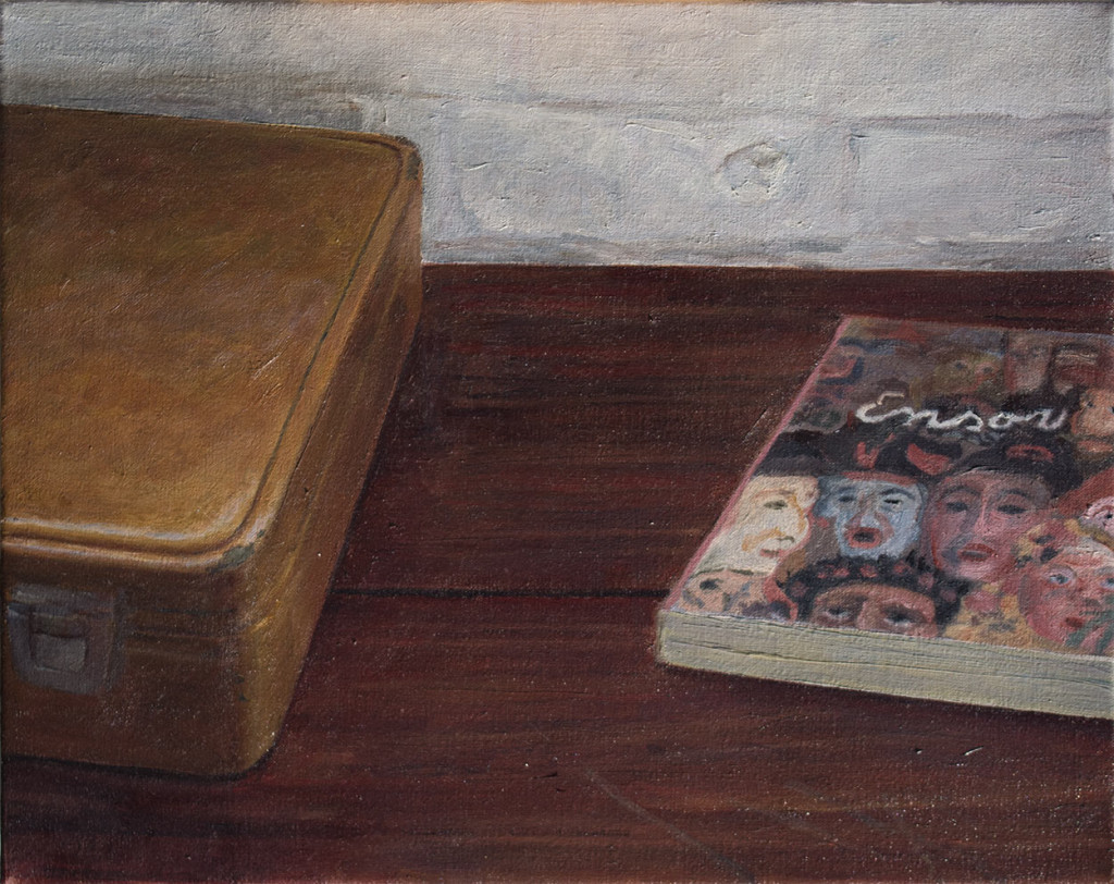 Ensor book and suitcase; 2015; 320 X 400 mm
